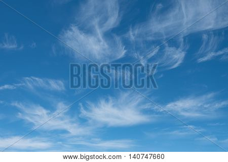 Blue Sky With Cloud On Sunshine Day.