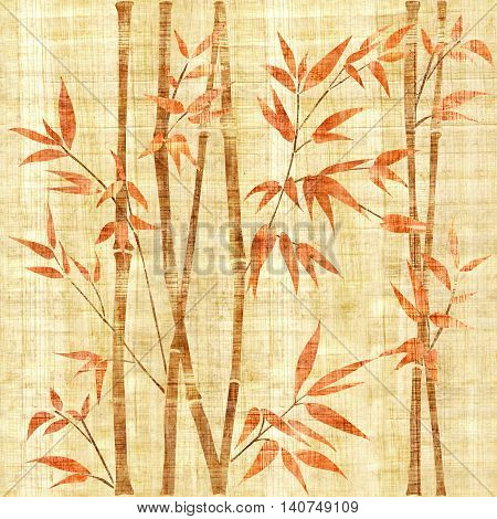 Decorative bamboo branches - Bamboo forest background - seamless background - Interior Design wallpaper - wall panel pattern - papyrus texture