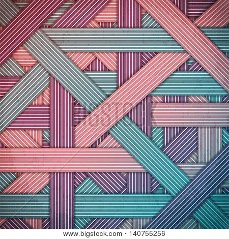 Abstract stripped and lines, geometric background. Chaotic interweaving strips. Modern stylish graphic texture for design, wallpaper.