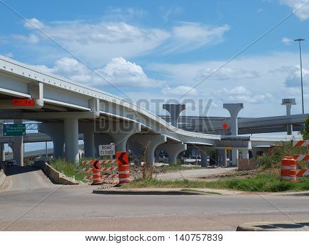 Part of the I-30 and I-35E Interchange  Horseshoe Project in Dallas.