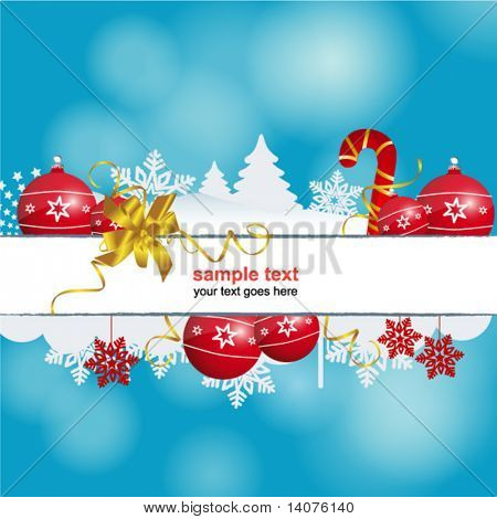 blue holiday christmas header