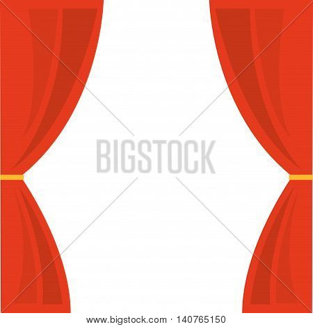 courtain show theater icon vector illustration design