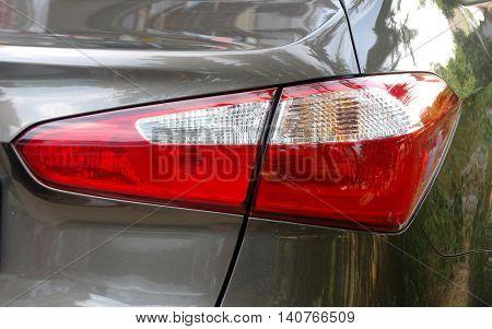 rear car tail light close up macro.