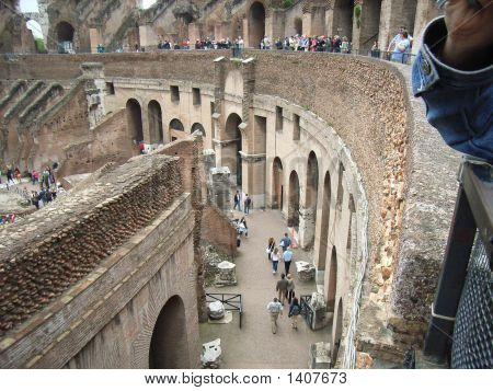 Sidewalk At The Colloseum In Rome