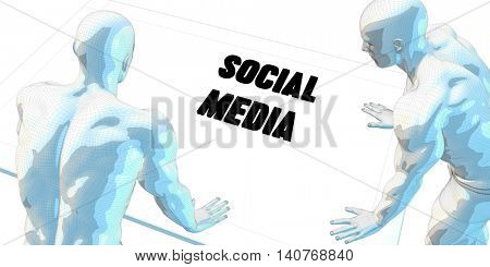 Social Media Discussion and Business Meeting Concept Art 3D Render