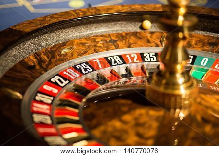 casino roulette wheel with natural light situation
