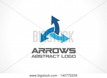 Abstract logo for business company. Corporate identity design element. Technology, Industrial, Logistic, Distribution Logotype idea. Arrow mix, delivery, interaction, integrate concept. Vector icon