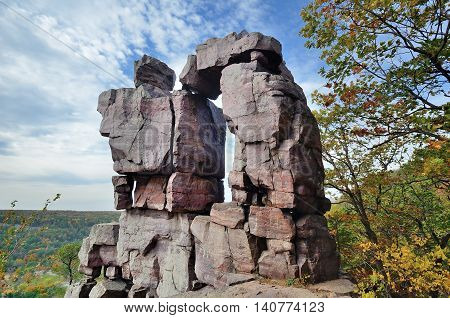 Devils Doorway at Devils Lake State Park near Baraboo Wisconsin