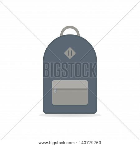School backpack. Blue backpack. Backpack isolated on white background