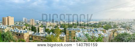 The residential district of Haifa located at the foot of Carmel Mount Israel.