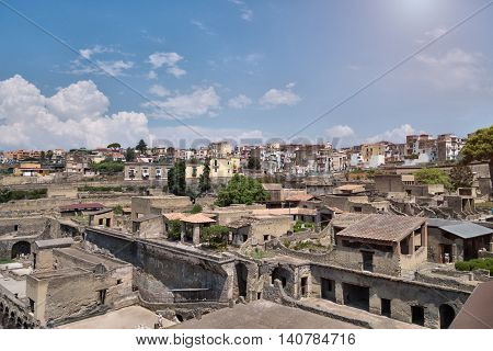 The Ruins Of Herculaneum Excavation