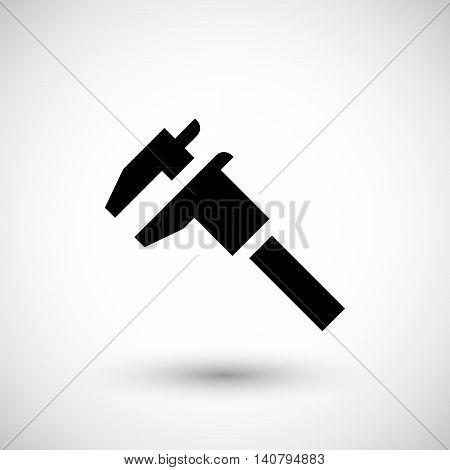Modern caliper icon isolated on grey. Vector illustration