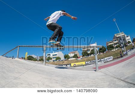 Cesar Afonso During The Dc Skate Challenge