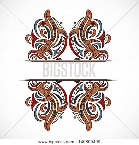Abstract shapes with frame. Illustration 10 version