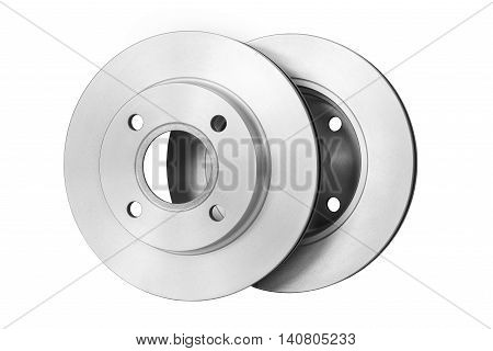 Brake Discs on white background with Clipping Path
