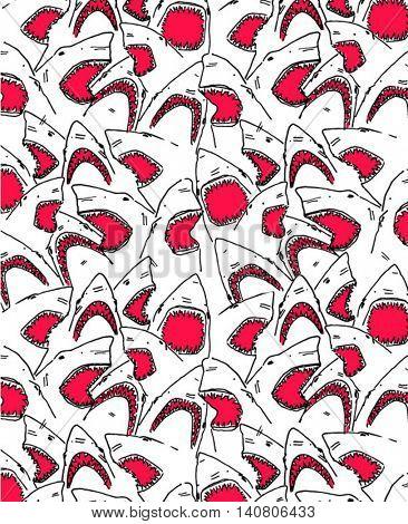 sketch pattern shark illustration 2