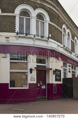 LONDON, UNITED KINGDOM - SEPTEMBER 12 2015: The Bull pub in London suburbs Woolwich quartier