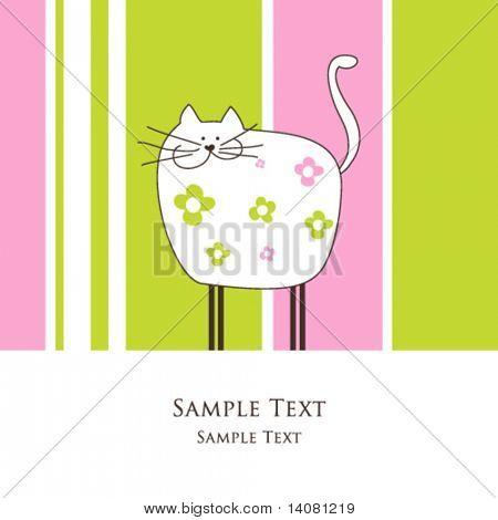 Cat -greeting card