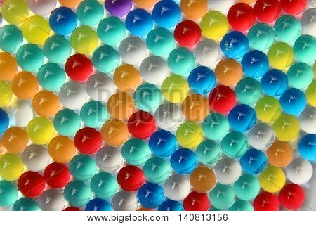 a nice background of different colors balls