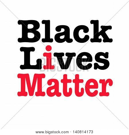 Black lives matter with I matter slogan inserted in red on White background