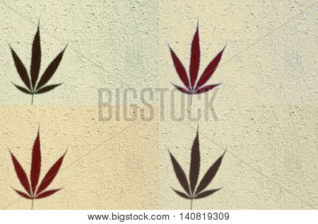 Four tiles of marijuana, which can be used as background for everything