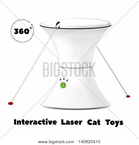 interactive rotating laser toy for cats !