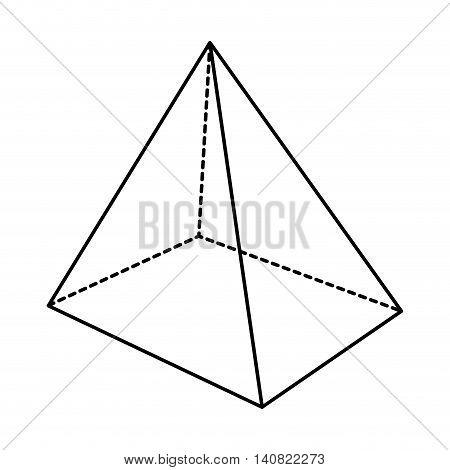piramid infographic presentation icon vector illustration design