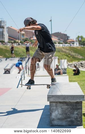 Pedro Roseiro During The Dc Skate Challenge