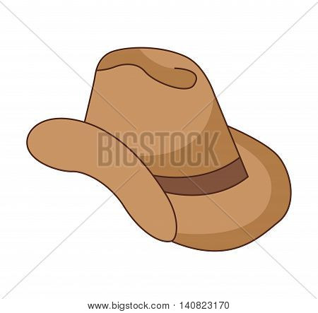 hat cowboy wild west icon graphic isolated vector
