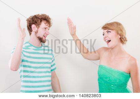 Happy Couple Celebrating Success