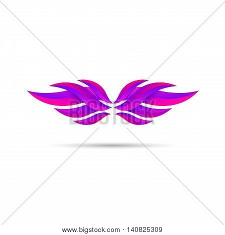 Modern wings emblem. Wing icon vector illustration.