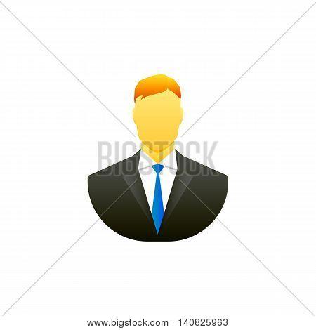 Man flat icon design. Avatar symbol. Vector illustration