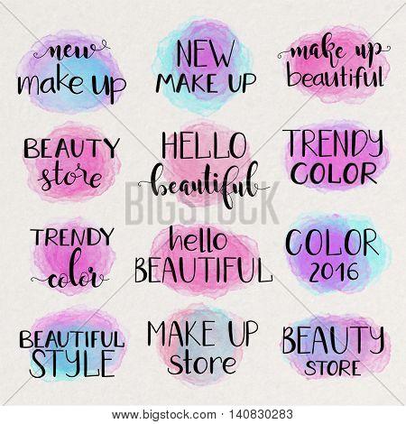 Make up beautiful lettering illustration