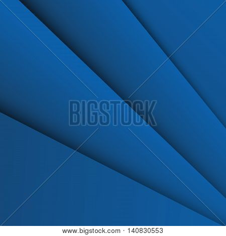 Dark blue overlap layer paper material design, stock vector
