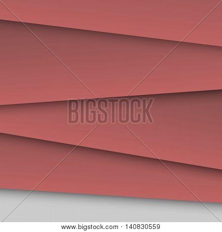 Dark red overlap layer paper material design, stock vector