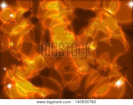 Abstract background with transparent circles.