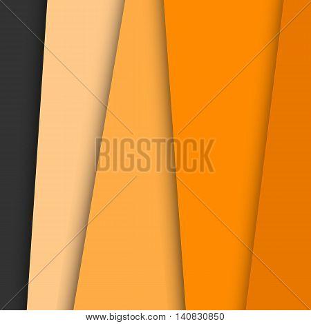 Orange overlap layer paper material design, stock vector