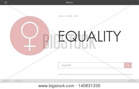 Women's Day Equality Freedom Get Involved Concept