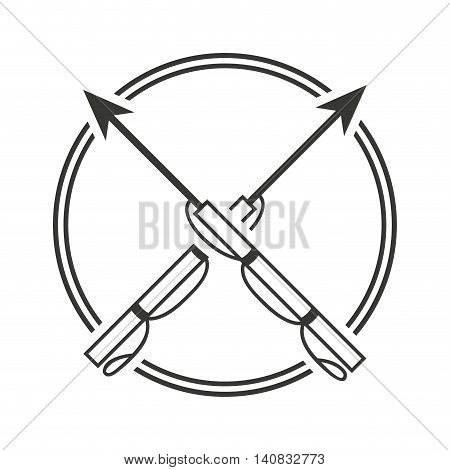harpoon fishing equipment icon vector illustration design