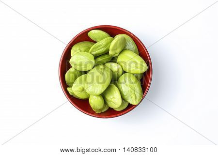 Parkia speciosa petai bitter bean twisted cluster bean stinker or stink bean