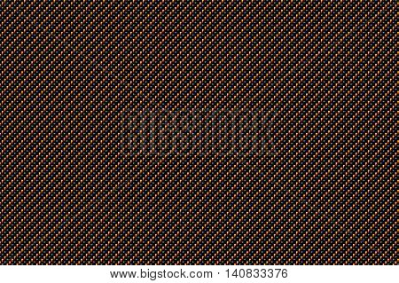 black and gold carbon fiber background and texture for material design. 3d illustration.