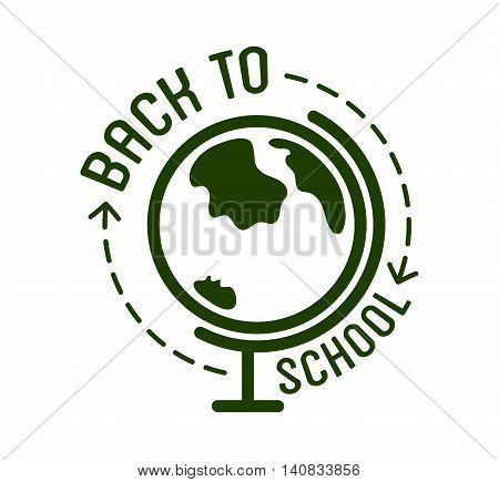 Back to School typography Designs Label. Vector Set.
