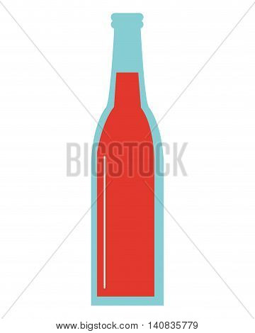 flat design glas bottle icon vector illustration