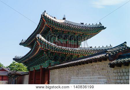 The main gate of Changgyeonggung palace, Seoul, South Korea