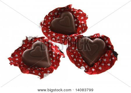 Heart Shaped Chocolates Unwrapped