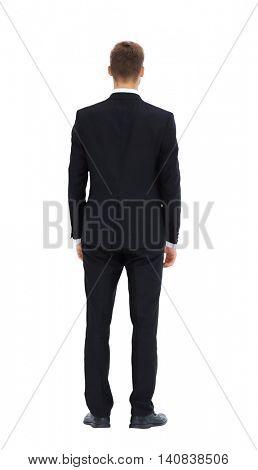 Business man.  Back side.