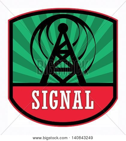 Abstract Signal label or sign, vector illustration