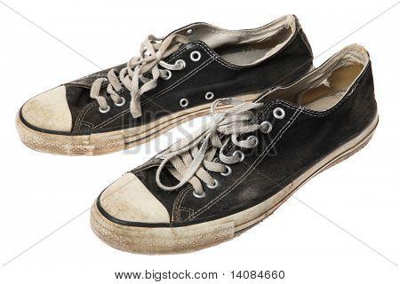 Pair of old sneakers