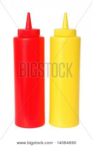 Mustard and Ketchup Containers