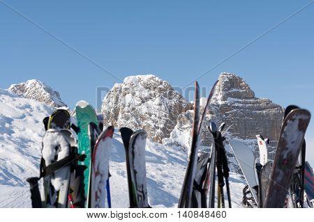 established ski in ski resort Schladming am Dachstein - austria